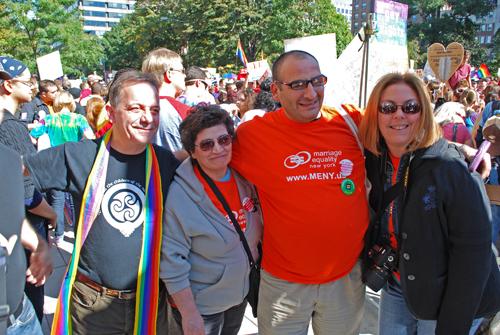 Brendan Fay -ILGO- Rosaria Aiosa, Vincenzo Aiosa & Barbara Snow ©Frank H. Jump