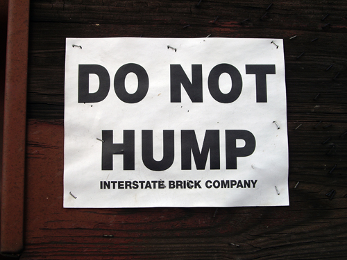 Do Not Hump - Off Route I-95 - Ft. Lauderdale FL