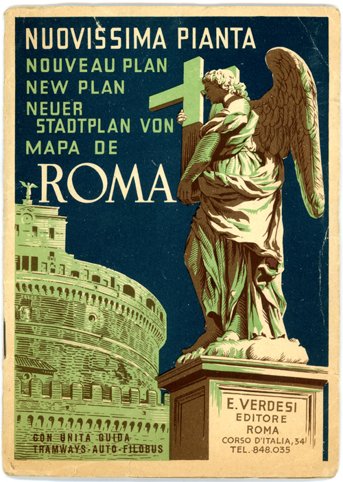 Map of Rome - 1955
