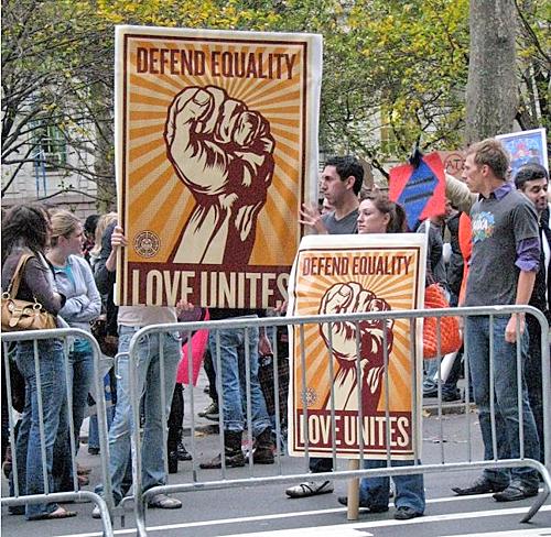 Marriage Equality Demonstration at City Hall, NYC - Saturday, November 15, 2008 © Jon Nalley