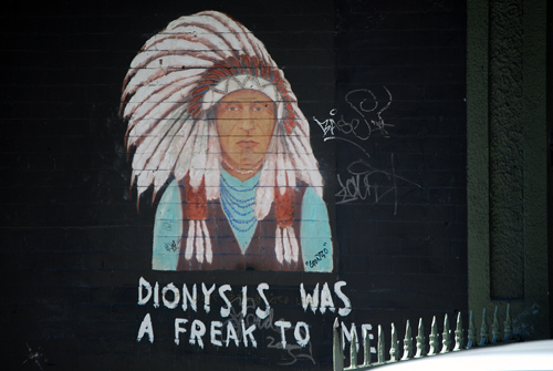 Indian Chief - Dionysis Was A Freak To Me - Mott Street, Little Italy NYC
