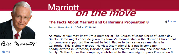 Bill Marriott on Proposition 8