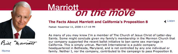 Bill Marriott on Proposition 8