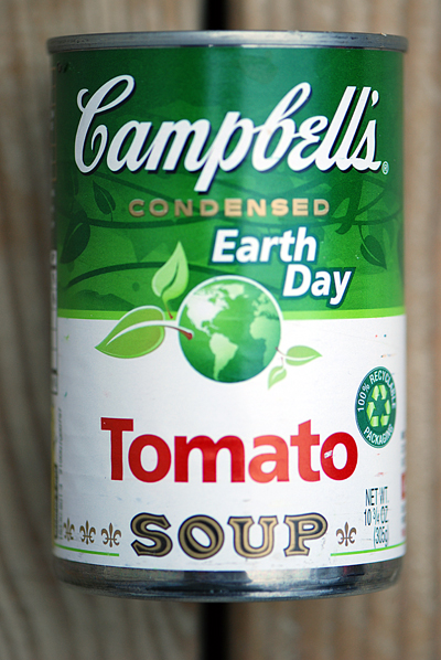 Earth Day Campbell's Soup Can