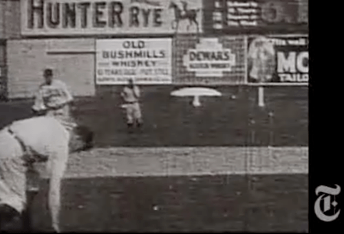 Christy Mathewson @ Polo Grounds in 1906 - Earliest film document of baseball - NY Times