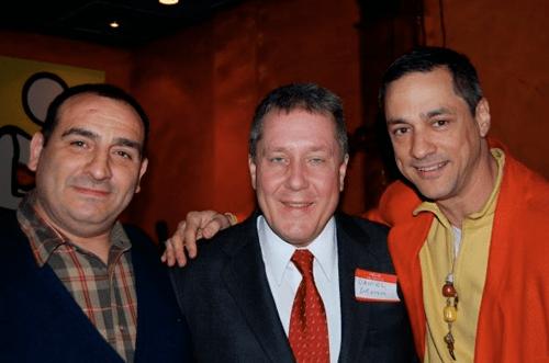 Vincenzo Aiosa, Daniel Dromm & Frank Jump
