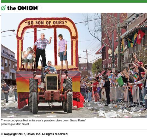 Gay shame parade