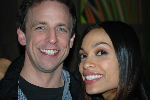 Seth Meyers & Rosario Dawson