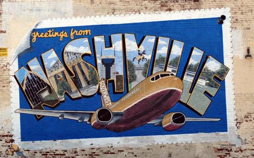 Greetings from nashville mural nashville tn fading ad blog greetings from nashville mural nashville tn m4hsunfo
