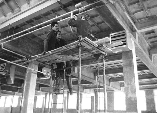 Frans Broekveldt ( Frans Ludwigs grandson) at work in Amsterdam in the late 1950s