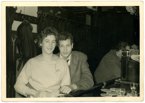My mother Willy and my uncle Frans in an Amsterdam bar.