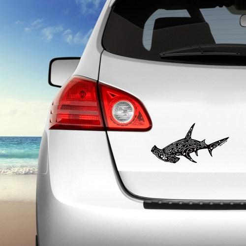 autocollant Requin marteau sur voiture