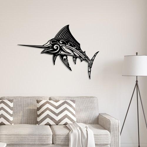 Décoration murale espadon noir