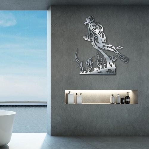"""Décoration murale """"Plongeur & coraux"""""""