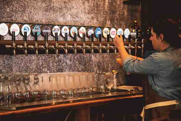 Picture of the taps behind the bar