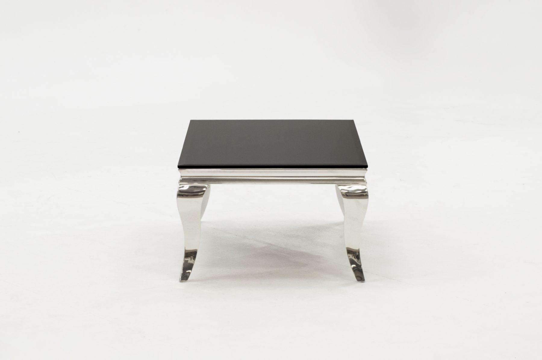 louis rectangular stainless steel black glass coffee table fads