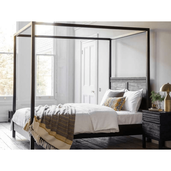 gallery direct boho boutique 4 poster bed bedroom furniture fads