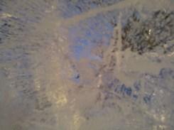 bulles d'oxygènes freinées dans leur exode glacé.