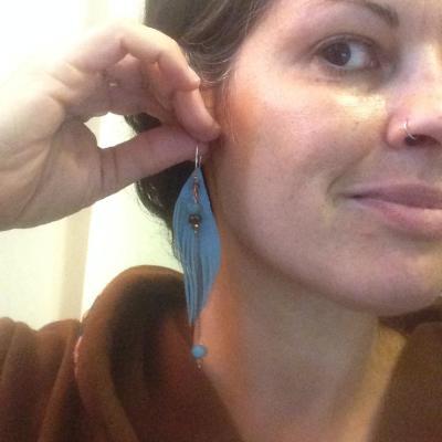 Seraphim Angel Wing Earrings worn | faerwear