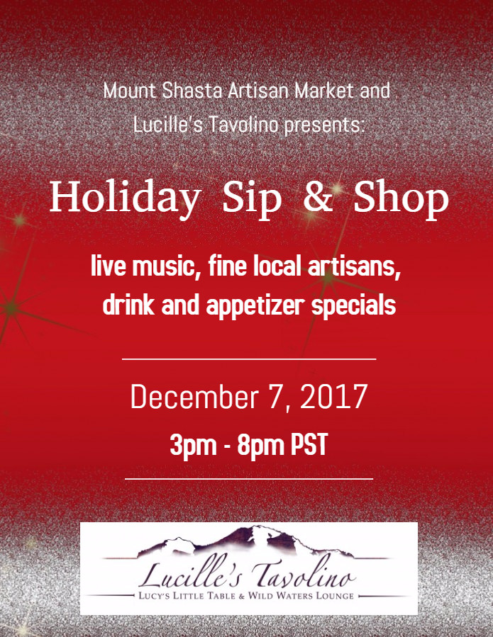 Holiday Sip & Shop | Lucille's Tavolino, Mt. Shasta, California | Shopping Mt. Shasta | faerwear