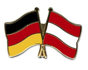 Bild von Freundschafts-Pin  Deutschland - Österreich-Fahne Freundschafts-Pin  Deutschland - Österreich-Nationalflagge, Flaggen und Fahnen kaufen, im Shop bestellen
