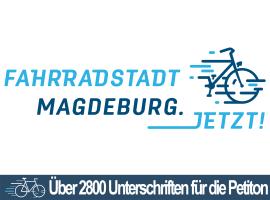 """2800 Unterschriften für """"Fahrradstadt Magdeburg.Jetzt!"""""""