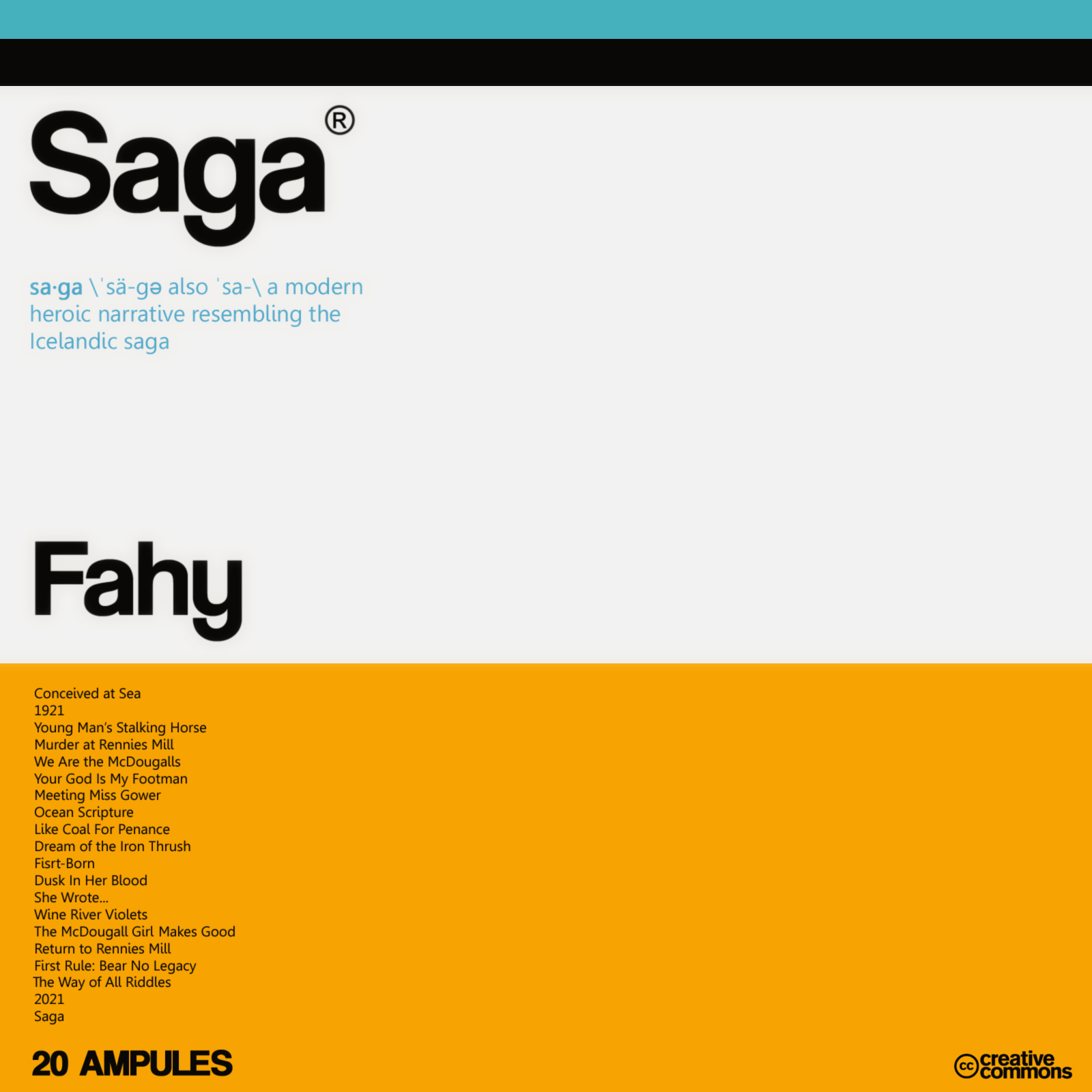Saga by Tom Fahy