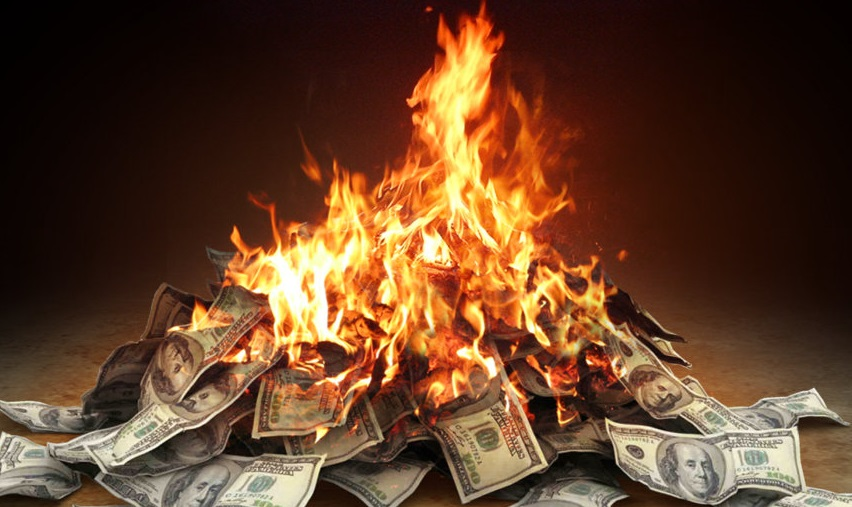 Image result for burning money