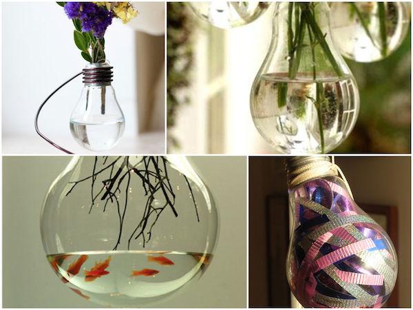 Lampade fai da te per arredare in modo creativo le stanze della tua casa. 16 Idee Creative Per Riciclare Vecchie Lampadine Fai Da Te Creativo