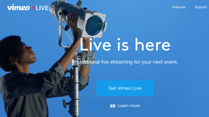 Vimeo Live: Live Streaming Freedom – Failed Normal