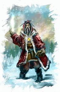 Cleric in the Snow
