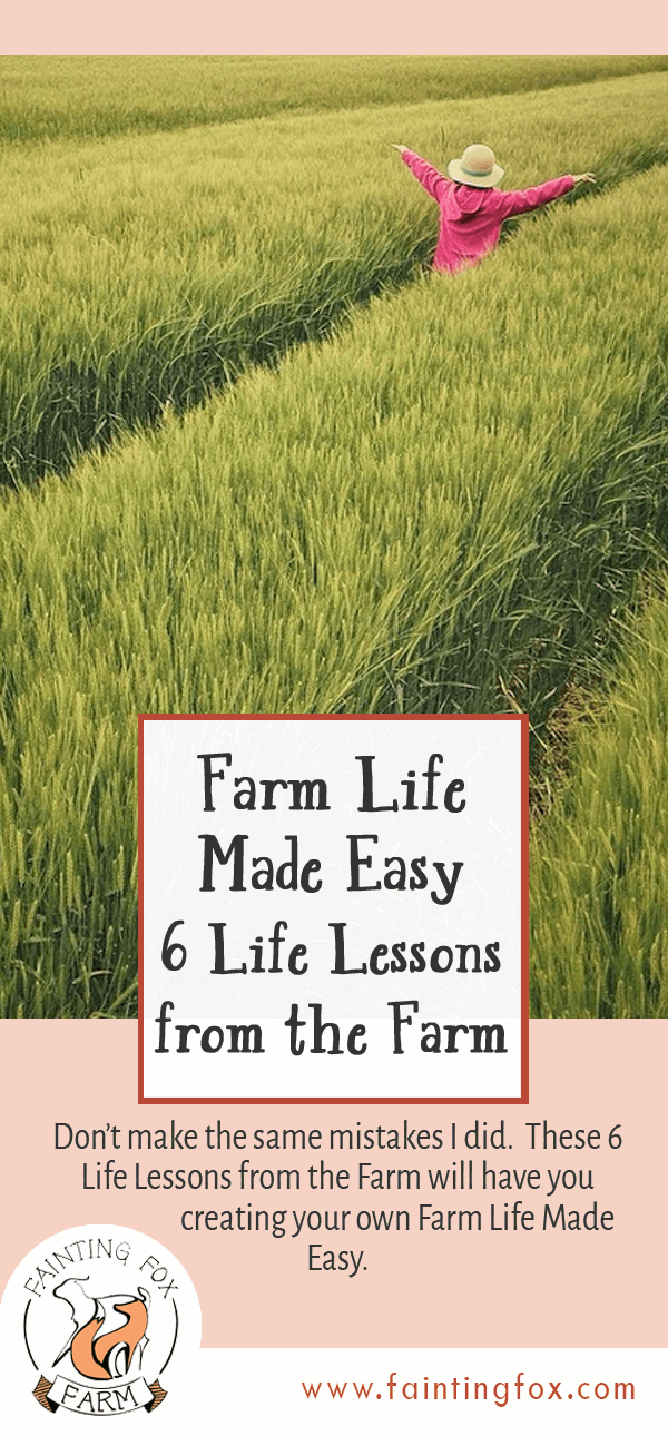 Farm Life Made Easy 6 Life Lessons | Fainting Fox Farm