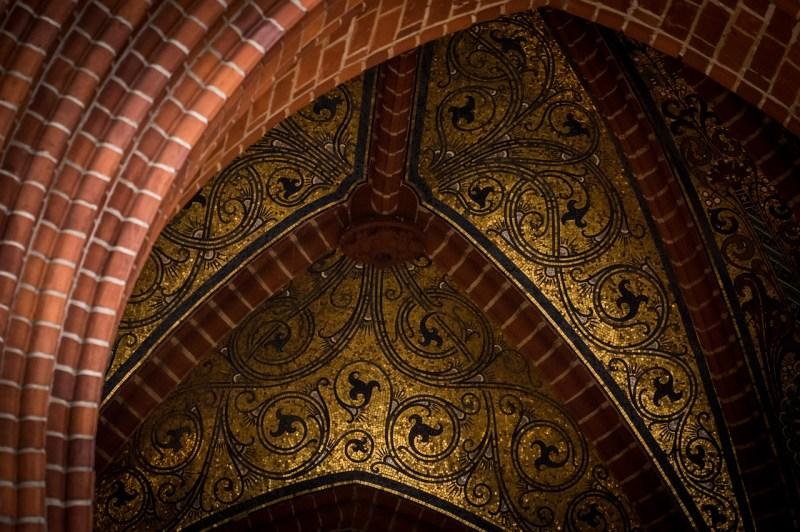vault, mosaic, gold