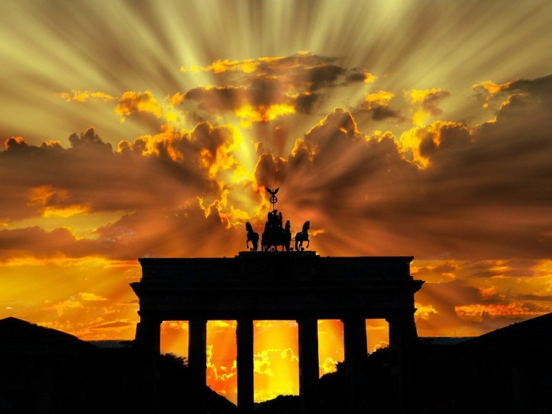 brandenburger tor, dusk, dawn