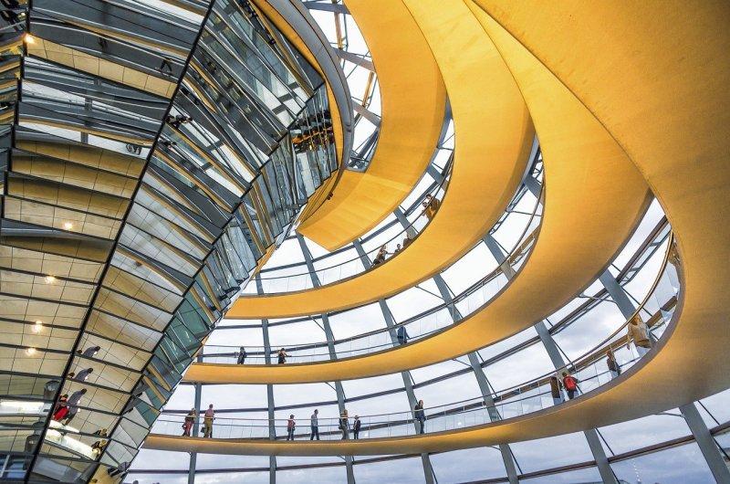 berlin, reichstagkoepel, modern