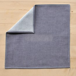 Fair - mouchoir en chambray parme