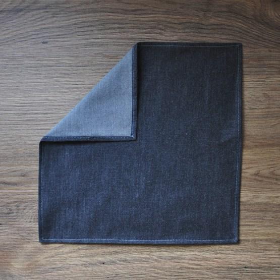 Fair - mouchoir en chambray gris foncé