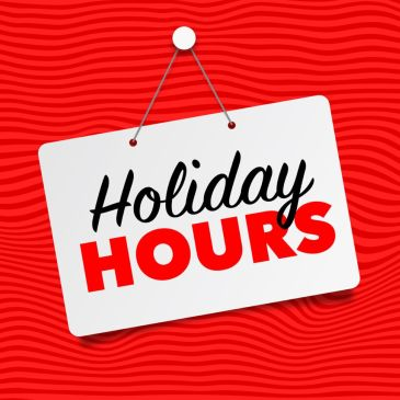 Fairbrae Holiday Hours…