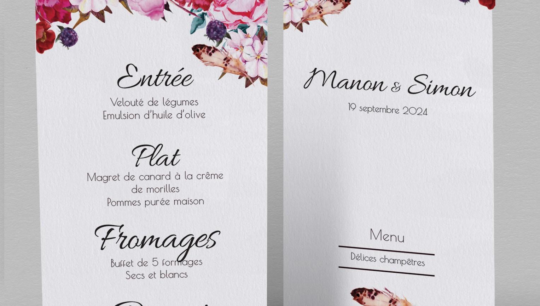 menu champetre andrea