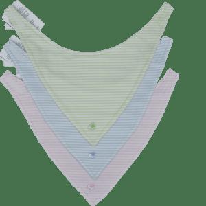 baby-dreieckstuch grün rosa blau gestreift maximo