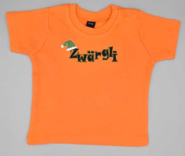 Baby T-Shirt Zwärgli orange