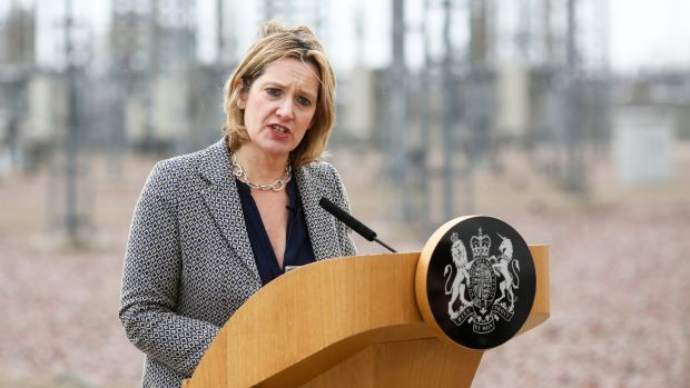 British Home Secretary Amber Rudd wants industry to move 'faster and more aggressively'.