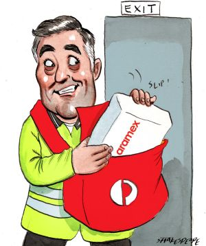 Outgoing Australia Post chief Ahmed Fahour.