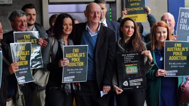 Ant-pokies campaigners are supporting the case alleging poker machines violate consumer laws.
