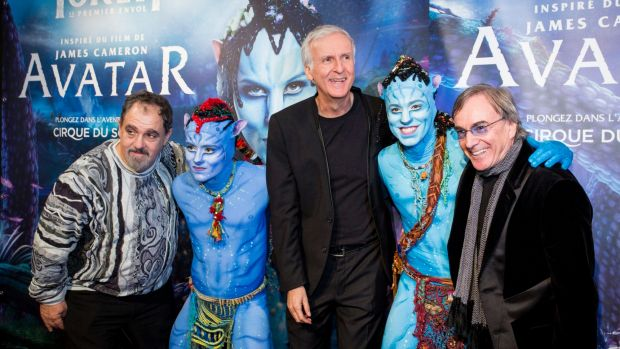 President and CEO of Cirque du Soleil, Daniel Lamarre (right) with Avatar creator James Cameron (middle). China will be ...