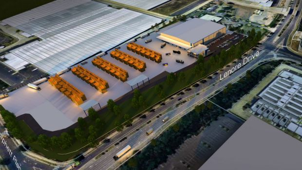 An artist's impression of LOGOS' Erskine Park Logistics Estate.