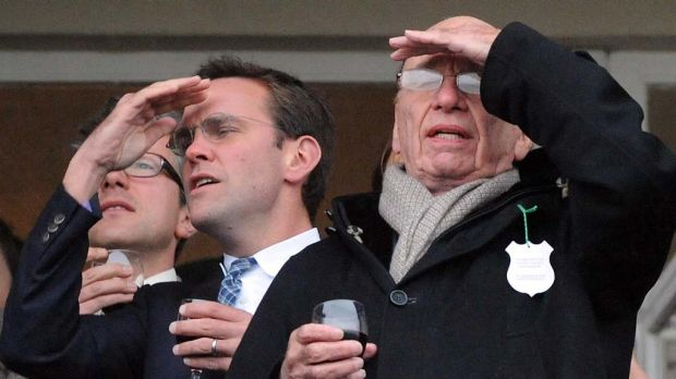 Looking to extract more value: James Murdoch and Rupert Murdoch.
