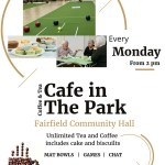 Café in the Park … a place to relax for all