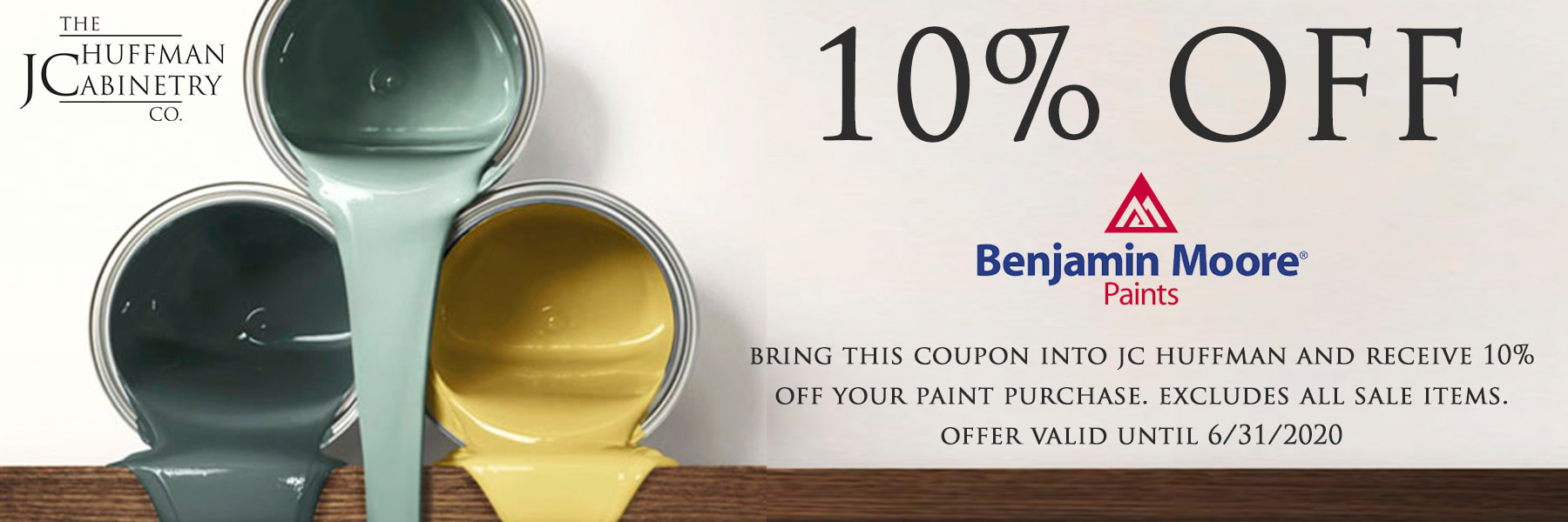 jc huffman cabinetry featuring 10 off benjamin moore paints on benjamin moore coupon id=78541