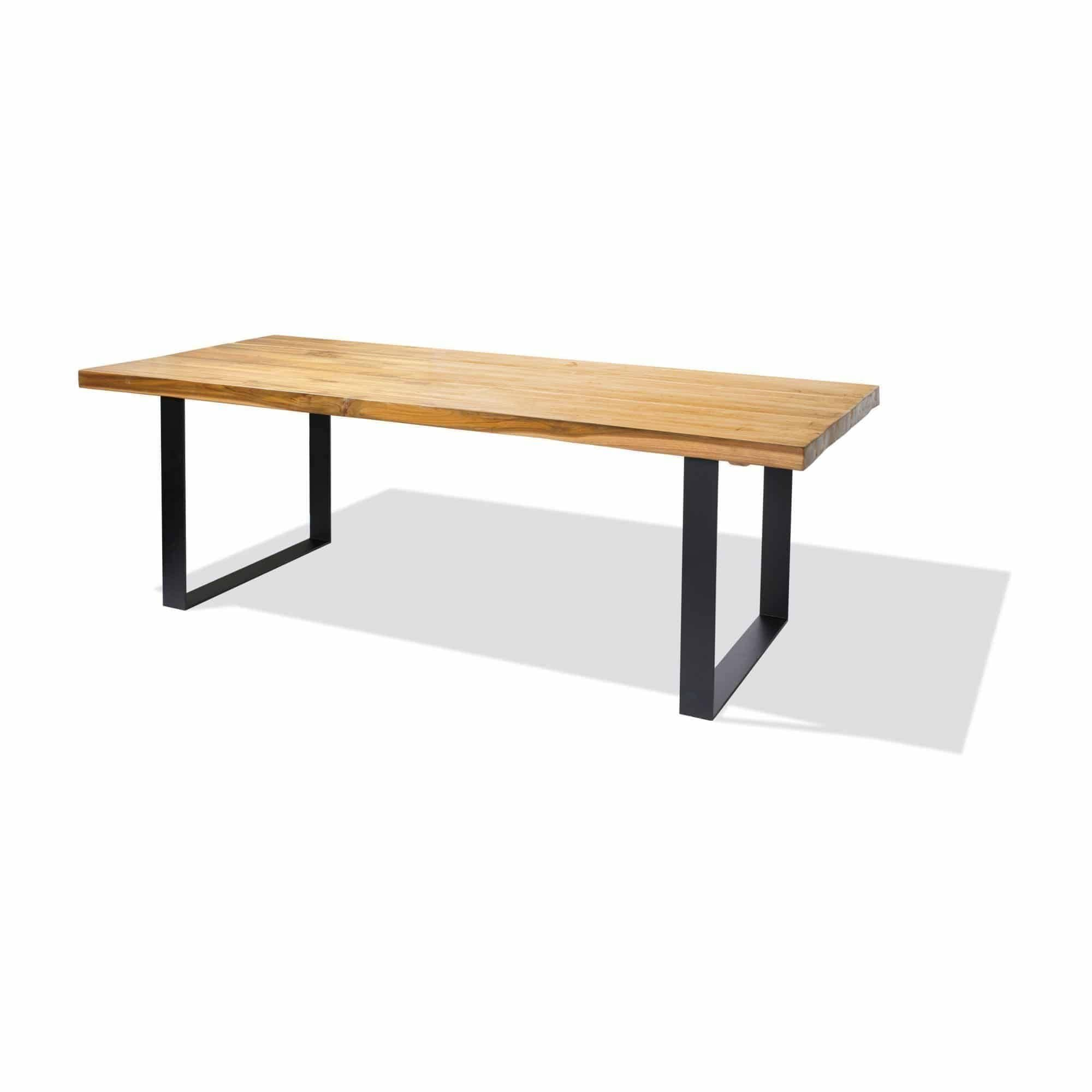 recycled teak dining table 240cm